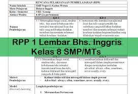Download Contoh Silabus Dan Rpp K13 Bahasa Inggris Background Bahasa Smp Inggris