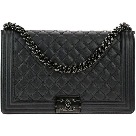 bfc086bd68b95 Pre-owned Chanel New Medium So Black Caviar Leather Iridescent Boy Bag  ( 5