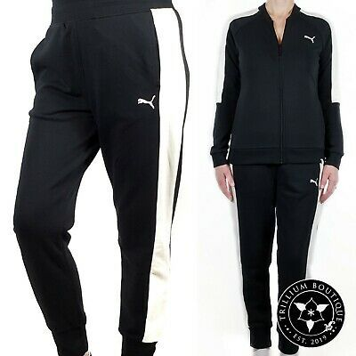 Puma Women's French Terry Jogger Black/Marshmallow Large Cotton Blend NWT #fashion #clothing #shoes #accessories #women #womensclothing (ebay link)