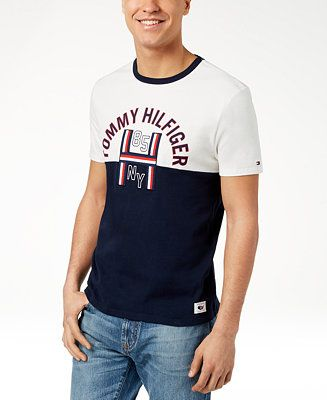 Tommy Hilfiger Men S Harley Graphic Print T Shirt Created For Macy S Men T Shirts Macy S Ropa Masculina Camiseta Hombre Ropa De Caballero
