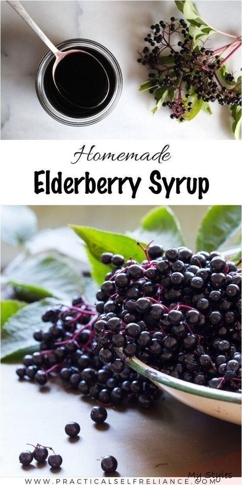Garden Landscaping Rectangle Elderberry syrup is a common immune-boosting home remedy for - #elderberry #syrup #recipe #diy