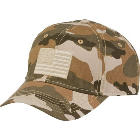 023d911940945 Image for Academy Sports + Outdoors™ Men s Americana Woodland Camo Twill Hat  from Academy