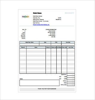 Pin On Receipt Template