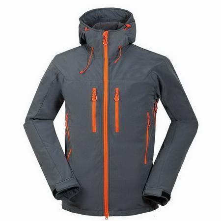 CIKRILAN Mens Outdoor Hooded Warm Fleece Lined Jacket Hiking Trekking Overcoat