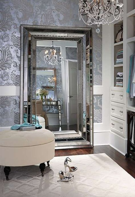 Patterned wallpaper tends to be busy. To make the most of its impact, use it in low-traffic rooms such as entries, powder rooms, and dining rooms.