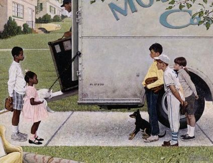 Norman Rockwell art with a true story