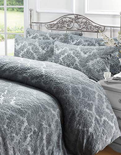 Linen Galaxy Embossed Damask Teddy Fleece Extra Plush Duv Https Www Amazon Co Uk Dp B07yzqxqf1 Ref Cm Sw R Pi D Duvet Cover Sets Duvet Covers Soft Bedding