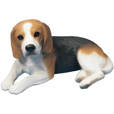Sandicast Inchoriginal Sizeinch Lying Beagle Dog Sculpture Brown