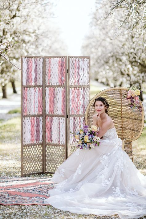 Whimsical Almond Orchard Blossom Wedding Inspiration – Playful Soul Photography 21  Blossoming orchards are the perfect backdrop for a nature-filled outdoor celebration.  #bridalmusings #bmloves #wedding #weddinginspo #weddinginspiration #blossom #orchard #outdoorwedding