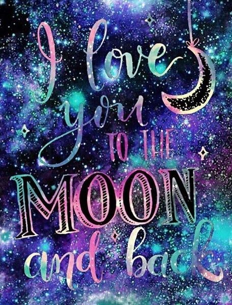 5d Diy Diamond Painting 3d Cross Stitch I Love You To The Moon And Back Picture Mosaic Painting Diamond Embroidery Home Decor Or Gifts Wish Wallpaper Iphone Love Galaxy Wallpaper