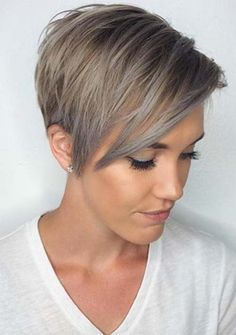 100+ Funky Short Pixie Haircut with Long Bangs Ideas | Short pixie ...
