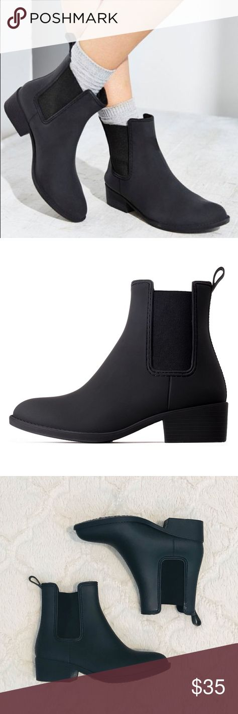 66efa2b9c Jeffrey Campbell Stormy Rain Boots Chelsea style rain boot. Slightly  narrow