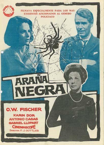 Araña Negra 1963 Tt0057095 Esp Araña Negra Cine Policiaca