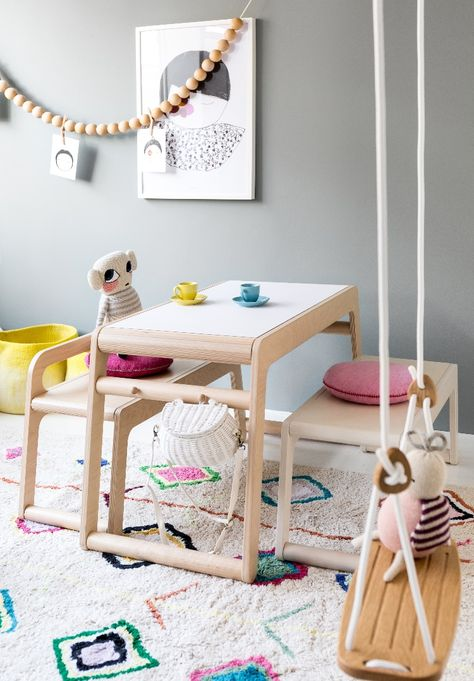 Girl Room with Playful Rafa-kids Toddler Table - Ready for some Tea Time!