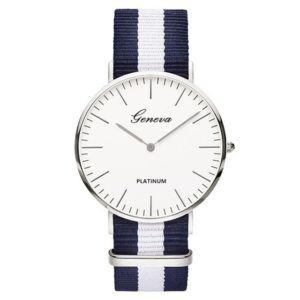 montre bleu blanche