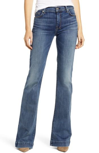 New 7 For All Mankind Dojo Flare Jeans Authentic Luck Online