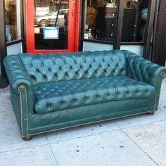 Sold Vintage Sofavintage Leatherleather Chesterfieldhollywood