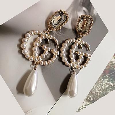 Womens Silver Colour Bead Round Costume Jewellery Drop Dangle Earrings Fashion