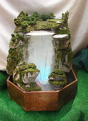 Large Water Fall Table Top Fountain With Lights And Smoke Indoor