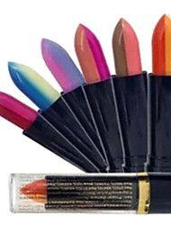 Rossetti Luccicante Stick Gloss colorati Blu / Verde / Rosso / Viola / Rosa / Colori disponibili / Oro / Borgogna / Arancione 6