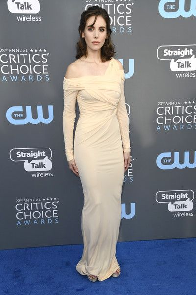 Alison Brie attends the 23rd Annual Critics' Choice Awards.