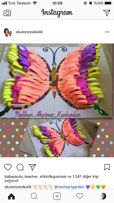 Butterfly with paper craft.