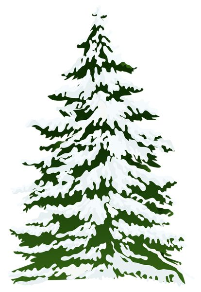 Winter Snowy Pine Tree Png Clipart Image Pine Tree Painting Tree Clipart Tree Images