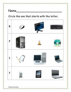 Kindergarten Computer Worksheets | Computer Lab Lessons & Resources ...