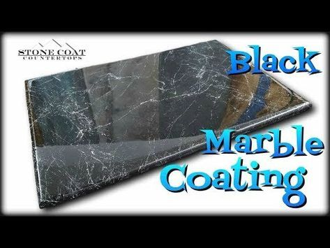 Black Marble Coating Over Old Countertops Youtube Black Marble