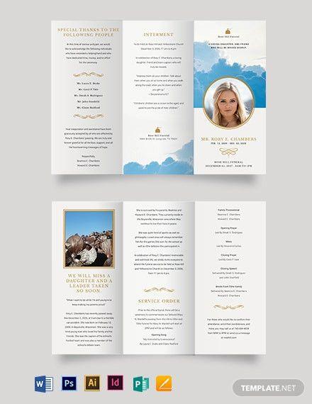 Catholic Funeral Mass Program Templates Trifold Brochure Trifold Brochure Template Brochure Template