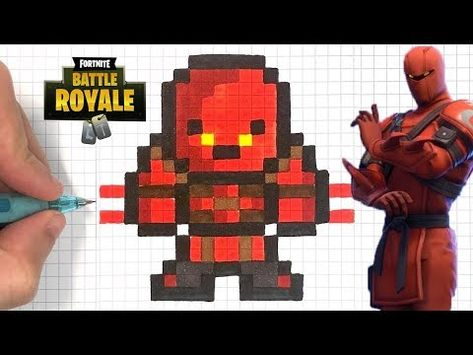 Dessin Facile Pixel Art Fortnite