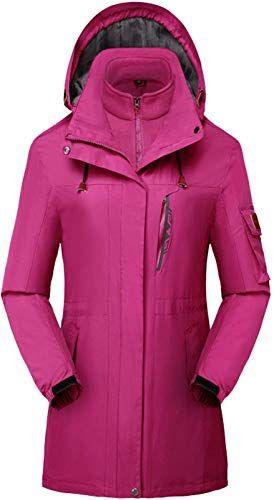 Enjoy Exclusive For Flygo Womens 3 1 Fleece Lined Rain Jacket Windproof Waterproof Parkas Online Waterproof Parka Women S Coats Jackets Light Hooded Jacket