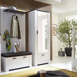 Reduzierte Garderoben Sets Kompaktgarderoben Garderobe Weiss