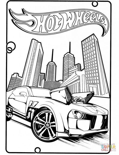 Desenho De Hot Wheels Pontiac G8 Para Colorir Desenho Do Hot