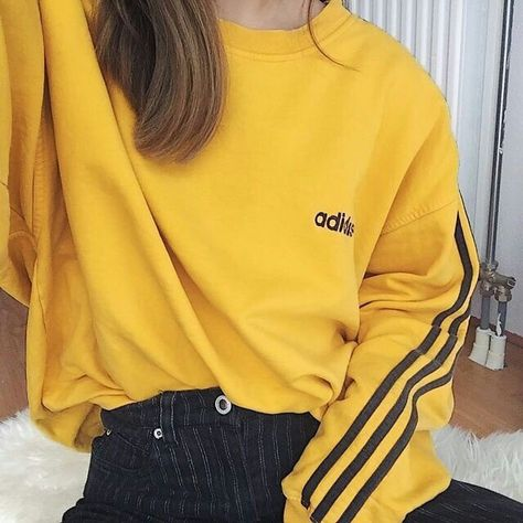 Fall Style l Beach Life Casual Fashion Cute Comfy Cozy Casual For Teens / Yellow