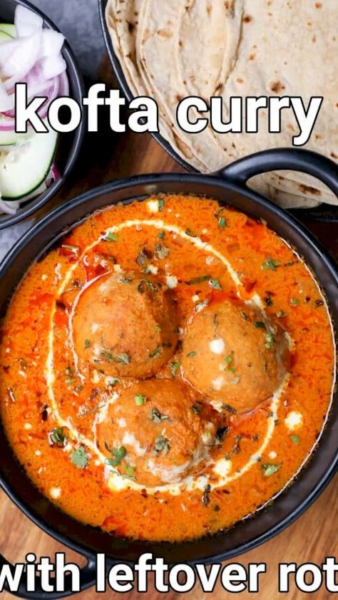 leftover roti kofta curry recipe | basi chapati ke kofte | bachi roti ke kofta with detailed photo and video recipe. an easy and simple gravy based curry recipe made with leftover rotis and potato kofte. it is an ideal sabji recipe that is not only an ideal alternative to the malai kofta but also consumes any leftover rotis. these koftas can be easily used in any type of recipe including the biriyani, pulao or even served as a deep-fried snack.