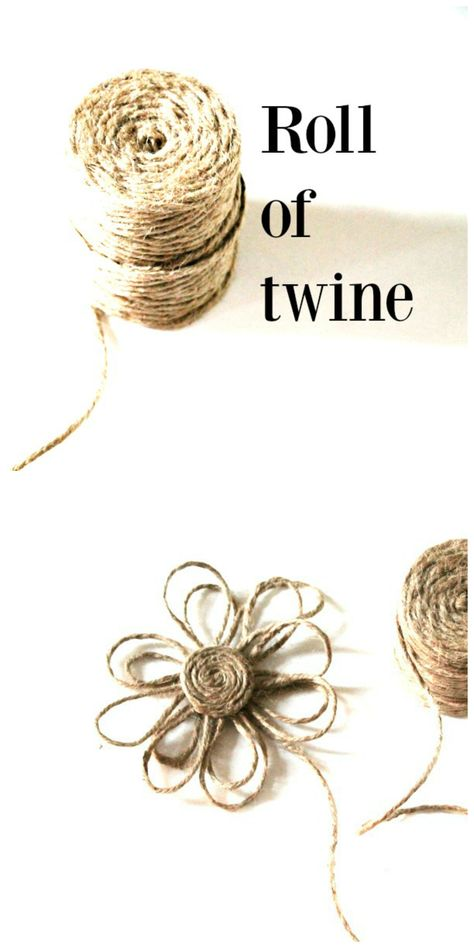 Make a twine flower. Perfect for embellishing home decor, gifts and more.