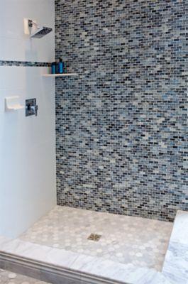blue twilight brick glass mosaic tile
