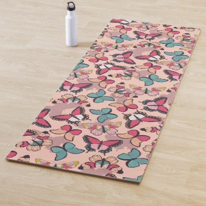 Beautiful Butterfly Pattern Yoga Mat Home Gifts Ideas Decor