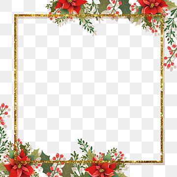 10+ Christmas Flower Border Clipart
