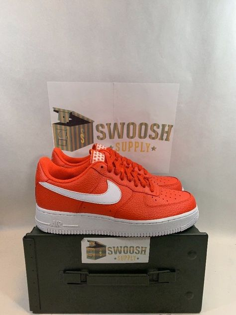 new products 933bc 30a42 New Nike Air Force 1 07 Low Mens Shoes Size 8 Team Orange White AA4083 800  Nike BasketballShoes