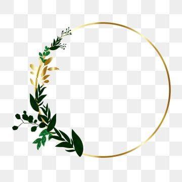 Vector Floral Border Floral Clipart Gold Floral Png And Vector With Transparent Background For Free Download Floral Border Design Frame Logo Flower Frame