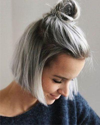 Hairstyle women 22 | Hair Style Women | Haare grau färben ...
