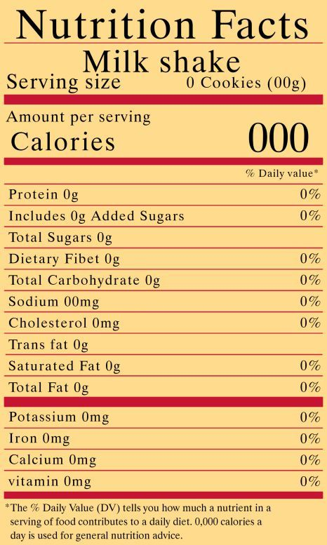 Nutrition Facts Download 10 Free Nutrition Label Templates