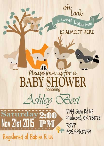 woodland baby shower … | pinteres…, Baby shower invitations