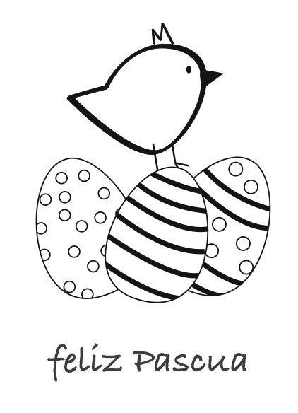 Dibujos De Pascuas Para Colorear Manualidades Pascua Para Colorear Dibujos De Pascua Tarjeta De Pascua