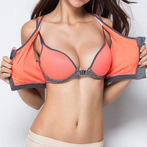 Double Full Cup Zipper Sports Bra (A)  #sports #sport #athleticwear #sportsfashion #sportsluxe #fitnessfashion #sportsbra #yogaapparel #fitnessmodel #shorts