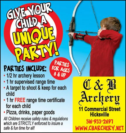 C Archery Party Place For Kids Birthday Party Activities - Childrens birthday parties on long island