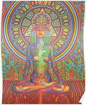 Shakti 2015 Poster By Karmym In 2020 Meditation Art Chakra