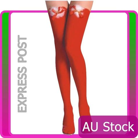 f5677f0d9e922 Xmas Christmas Lingerie Hosiery Red thigh high Stockings with Bows one size# Hosiery#Red#Lingerie